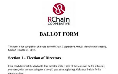 RChain Debrief 99: Items of Business