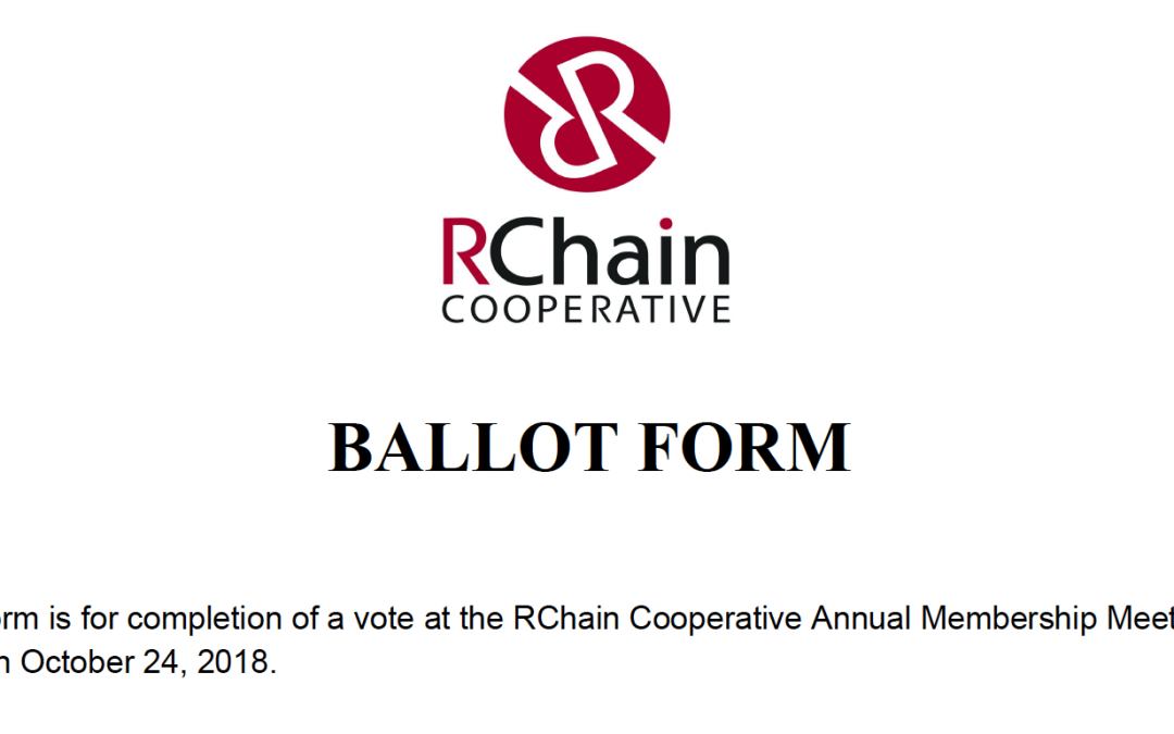 2018 Board of Directors Ballot Form