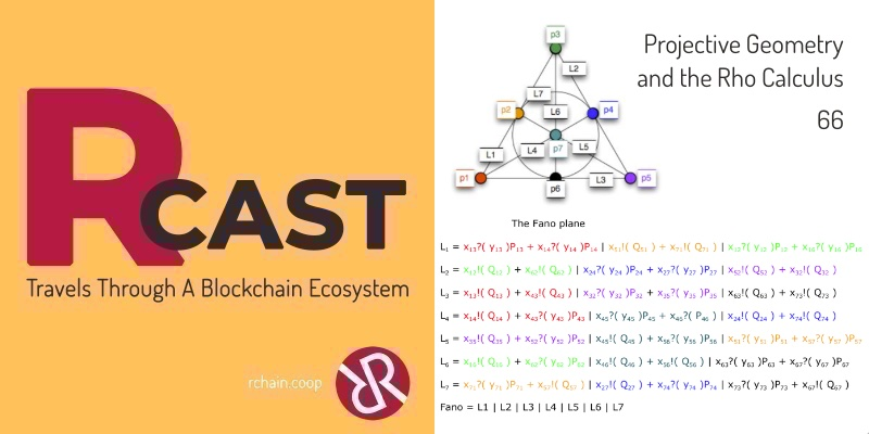 RCast 66: Projective Geometry and the Rho Calculus
