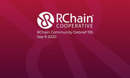 RChain Co-op Weekly Community Debrief #195 Sept 9 2020