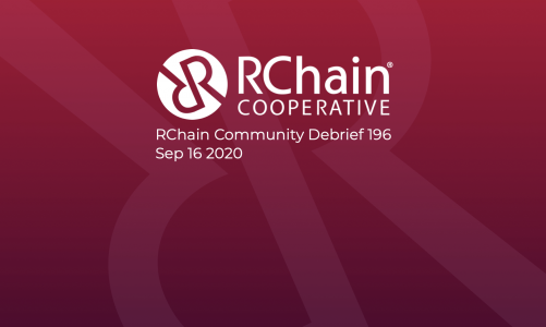 RChain Co-op Weekly Community Debrief #196 Sept 16 2020