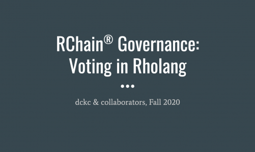 RChain – Voting in Rholang