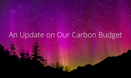 An Update on Our Carbon Budget