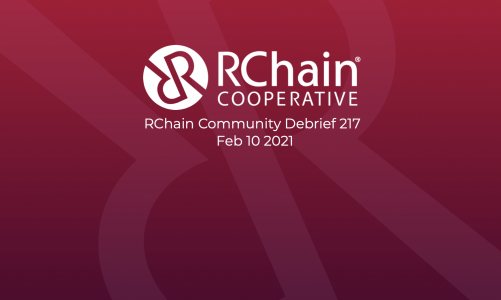 217 Feb 10 Community Debrief – Dappy updates – ERC-like tokens in RChain / Nutzipper and Block Merge