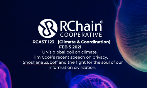 RCast 123 – [Climate & Coordination] Feb 5 2021 – UN Climate poll, Tim Cook keynote on Privacy, Shoshana Zuboff and An Epistemic Coup, Tim Sweeny's call for an Open Metaverse