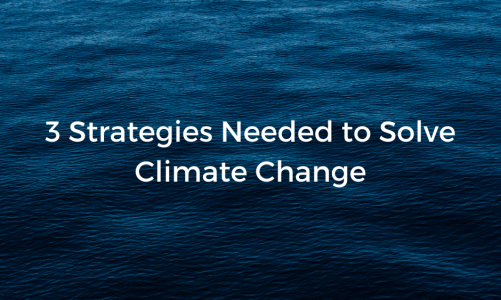 3 Strategies Needed to Solve Climate Change