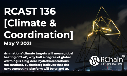 RCast 136 – [Climate & Coordination] May 7 2021 – rich nations = 2.4 degrees, hydrofluorocarbons, roc sandford, zuckerberg's vr/ar play